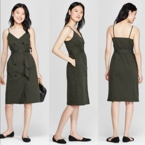 A New Day NWT sleeveless button down utility dress